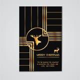 Карточка приглашения рождества Стоковое Изображение