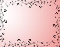 Карточка приглашения свадьбы в пинке Стоковая Фотография RF