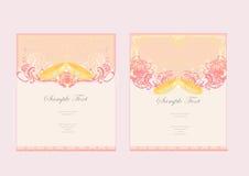 Карточка приглашения свадьбы с кольцами Стоковые Изображения RF