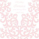 Карточка приглашения свадьбы с орнаментом шнурка Стоковые Фото