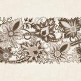 Карточка приглашения свадьбы с этническим орнаментом Пейсли цветка иллюстрация вектора