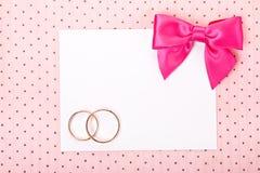 Карточка приглашения свадьбы стоковые изображения rf