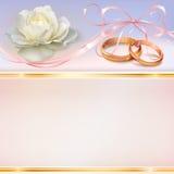 Карточка приглашения свадьбы Стоковая Фотография RF