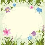 Карточка приглашения с рамкой цветка также вектор иллюстрации притяжки corel иллюстрация штока