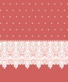 Карточка приглашения с симпатичными орнаментами шнурка Стоковая Фотография