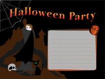 Карточка приглашения хеллоуина Стоковые Фото