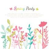 Карточка приглашения цветка Стоковые Фото