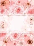 Карточка приглашения цветка Стоковое Изображение RF