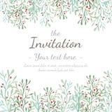 Карточка приглашения цветка Стоковое Изображение