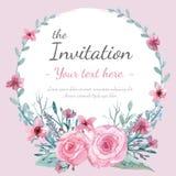 Карточка приглашения цветка Стоковые Изображения