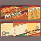 Карточка приглашения Oktoberfest винтажная Стоковое Изображение RF