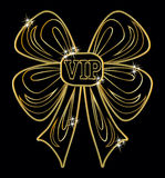 Карточка приглашения VIP золотая, вектор Стоковое Изображение RF
