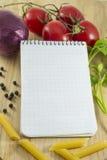 Карточка примечания рецепта Стоковые Фотографии RF