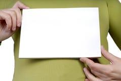 карточка пустая Стоковые Изображения