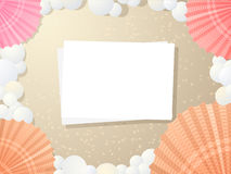 Карточка пляжа Стоковое фото RF