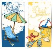 Карточка пляжа Стоковые Изображения RF