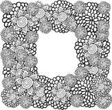 Рамка цветка иллюстрация вектора