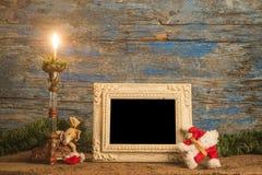 Карточка рамки фото приветствию рождества Стоковое Фото