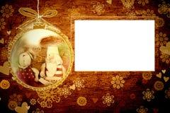 Карточка рамок Санты рождества Стоковые Изображения