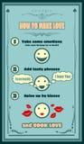 Карточка рецепта влюбленности Творческий шаблон для приглашения Стоковые Фото