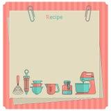 Карточка рецепта Шаблон примечания кухни Стоковые Фотографии RF