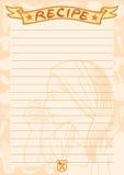 Карточка рецепта Стоковое Изображение RF