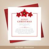 Карточка рождества и Новый Год приветствию. Стоковые Фотографии RF