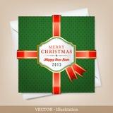 Карточка рождества и Новый Год приветствию. Стоковая Фотография RF