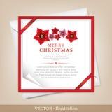 Карточка рождества и Новый Год приветствию. Стоковое Изображение RF