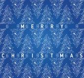 Карточка рождества голубая с grungy рождественскими елками иллюстрация вектора