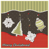 Карточка рождества geeting Стоковые Изображения