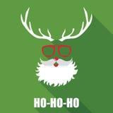 Карточка Санты рождества ретро Стоковые Изображения