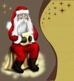 Карточка сбора винограда рождества с wi starr или предпосылки Стоковое фото RF