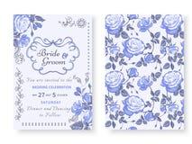 Карточка сбора винограда с розами Стоковые Фото