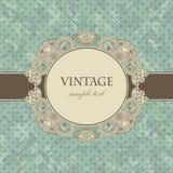 Карточка сбора винограда с флористической рамкой Стоковое Изображение