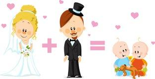 Карточка свадьбы Стоковые Фотографии RF