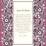 Карточка свадьбы стоковые изображения rf