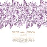 Карточка свадьбы Стоковая Фотография RF