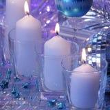 Карточка свечи рождества - фото запаса Стоковое фото RF