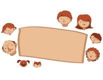 Карточка семьи вектора Стоковая Фотография RF