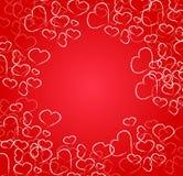 Карточка сердец Стоковое Изображение