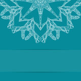 Карточка сини бирюзы с богато украшенной картиной Стоковое Фото