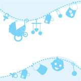 карточка сини младенца объявления Стоковые Фото