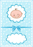 карточка сини младенцев жизнерадостная Стоковое фото RF