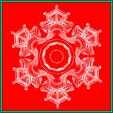 Карточка снежинки рождества низкая поли Иллюстрация вектора