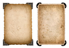 Карточка старого фото бумажная с рамкой угла и краев ретро Стоковые Изображения RF
