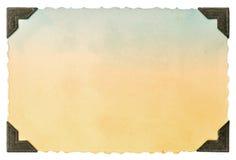 Карточка старого фото бумажная с углом и края винтажные стоковое фото