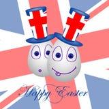 Карточка счастливая пасха на Британия 2 Стоковое Изображение RF