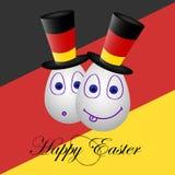 Карточка счастливая пасха на Германия 1 Стоковая Фотография RF