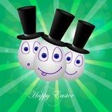 Карточка счастливая пасха 2 Стоковые Изображения